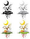 Halloween floating isle decoration set create by Royalty Free Stock Photo