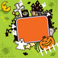 Halloween Frame Background Stock Images
