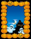 Halloween frame with ghosts Royalty Free Stock Photography