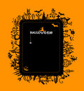Halloween frame for your design Stock Photo