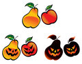 Halloween Fruits Royalty Free Stock Photos