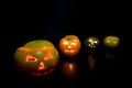 Halloween fruits funny composition of Royalty Free Stock Image