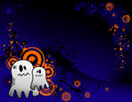 Halloween ghost banner Stock Photography