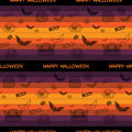 Halloween ghost bat pumpkin seamless pattern backg background vector Stock Photos