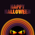 Halloween ghost circle stripe background vector Royalty Free Stock Images