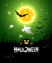 Halloween ghost design background Stock Image