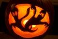 Halloween ghost pumpkin Stock Images