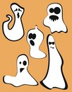 Halloween ghosts Stock Photography
