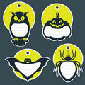 Halloween gift tags Stock Images
