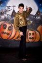 Halloween glitter man Royalty Free Stock Photo