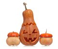 Halloween gourds gourd and decorative pumpkins isolated on white background Stock Photography