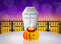 Halloween grave illustration of in the cemetery Royalty Free Stock Image