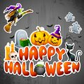 Halloween Greeting Stock Photography
