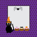 Halloween greeting card Stock Photo