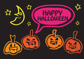Halloween greeting design Royalty Free Stock Photography