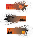 Halloween grunge banners Royalty Free Stock Images