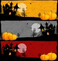 Halloween grunge banners Royalty Free Stock Photos