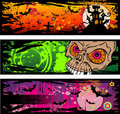 Halloween Grunge Style Banners Stock Photo