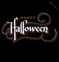 Halloween hand lettering (vector) Stock Photos