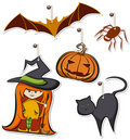 Halloween Hangtags Royalty Free Stock Images