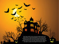 Halloween with haunted house Royalty Free Stock Photos