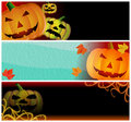 Halloween Headers Stock Image
