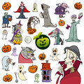 Halloween holiday cartoon set Royalty Free Stock Photo