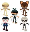 Halloween horror characters Royalty Free Stock Photos