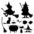 Halloween icon clipart vector set Royalty Free Stock Photos