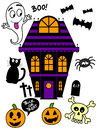 Halloween icon set a of cute icons Royalty Free Stock Photography