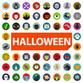 Halloween icon set isolated on white Royalty Free Stock Images