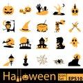 Halloween Icon Set, vector