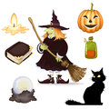 Halloween icon vector set of clipart Stock Image