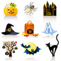 Halloween icons Royalty Free Stock Image