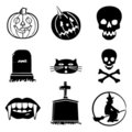Halloween icons collection Royalty Free Stock Image