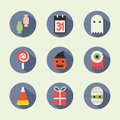 Halloween icons flat vector design Royalty Free Stock Photos