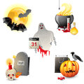 Halloween icons highly detailed Royalty Free Stock Photo