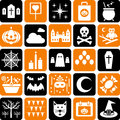 Halloween Icons Party Symbols Stock Photos