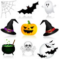 Halloween icons set of holiday Royalty Free Stock Image