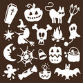 Halloween icons - silhouettes Royalty Free Stock Photography