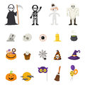 Halloween icons, vector Royalty Free Stock Photo