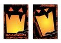 Halloween illustration with black bat on moon background. Royalty Free Stock Photo