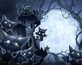 Halloween illustration of a castle dark vampire Stock Images