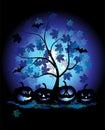 Halloween illustration pumpkins 免版税库存图片