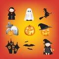 Halloween illustration set Royalty Free Stock Photos