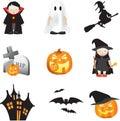 Halloween illustration set Stock Image