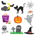 Halloween Illustration Set Stock Photos