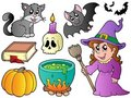 Halloween images collection Royalty Free Stock Photo