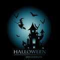 Halloween invitation card Royalty Free Stock Images