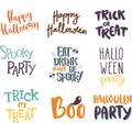 Halloween invitation cards vector.